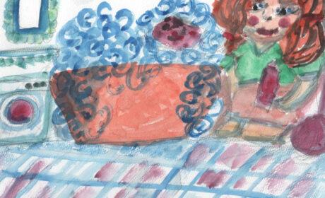 Gąbkowo-mydełkowe rozmowy, czyli fiku-miku w łazience